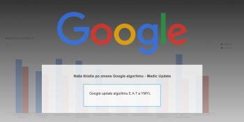 Google algorytmus - medic update studie